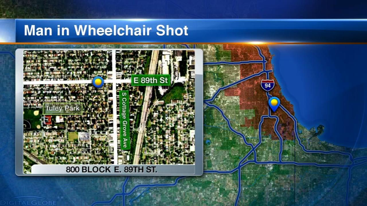 Man in wheelchair shot in Burnside