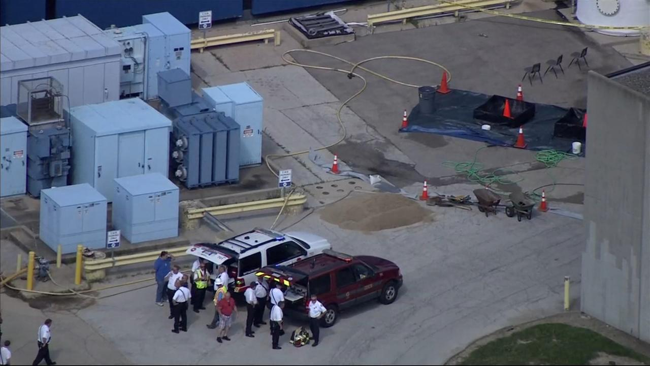 Acid leak reported at Fermilab in Batavia
