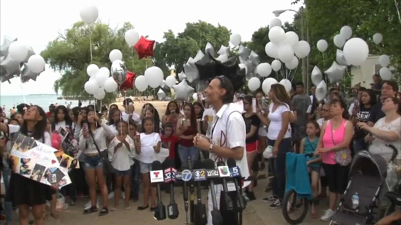 Vigil held for 13-year-old Darihanne Torres who drowned in Lake Michigan