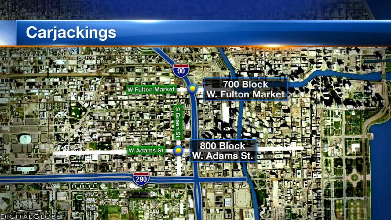 Carjackings reported in Greektown, Fulton River District