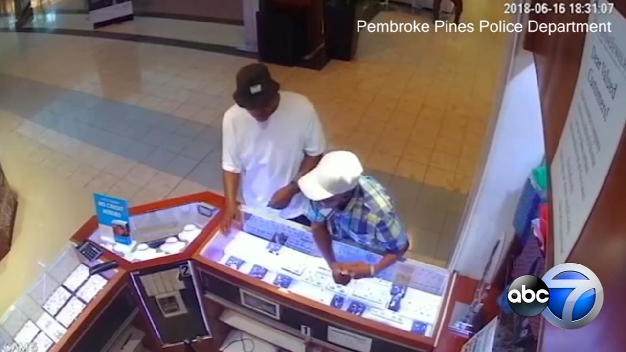 Suspect steals 8 diamond rings worth $45K from mall