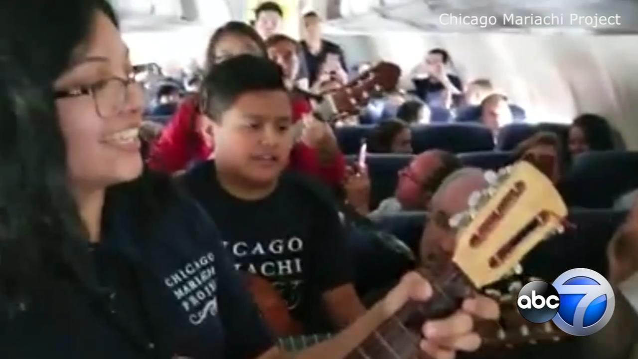 Chicago students perform mariachi music on Southwest flight