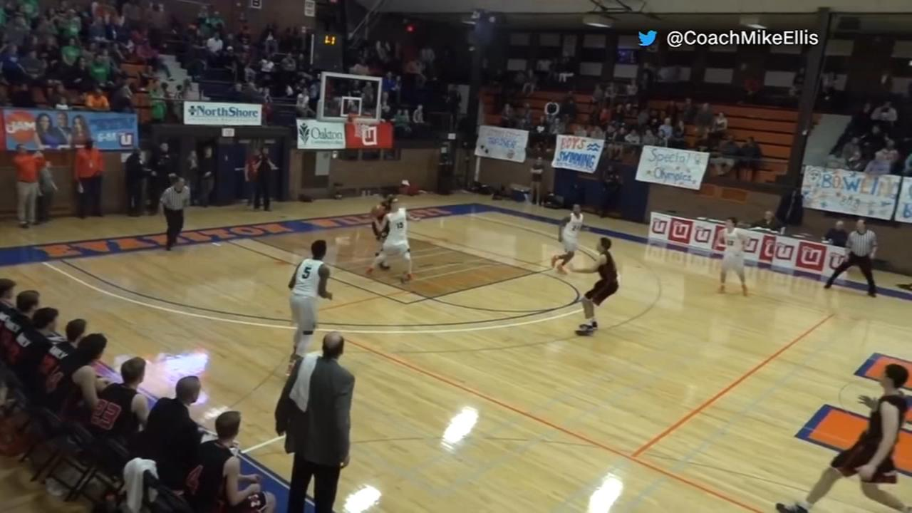 Watch Evanston High School buzzer beater