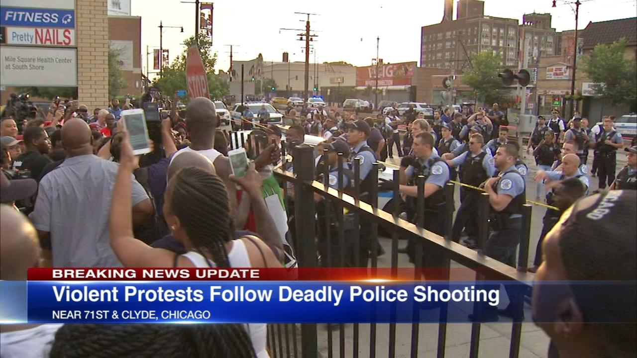 Protets erupt after man fatally shot by police in South Shore