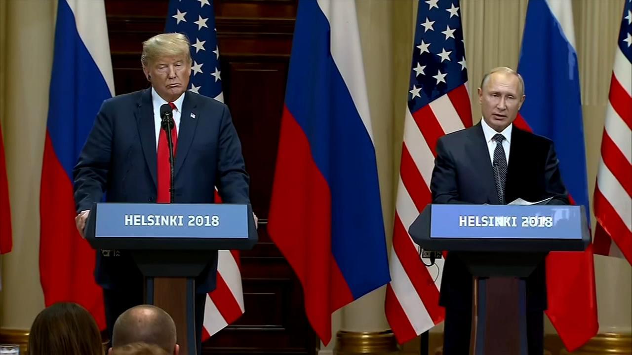 President Trump, Putin meet in Helsinki