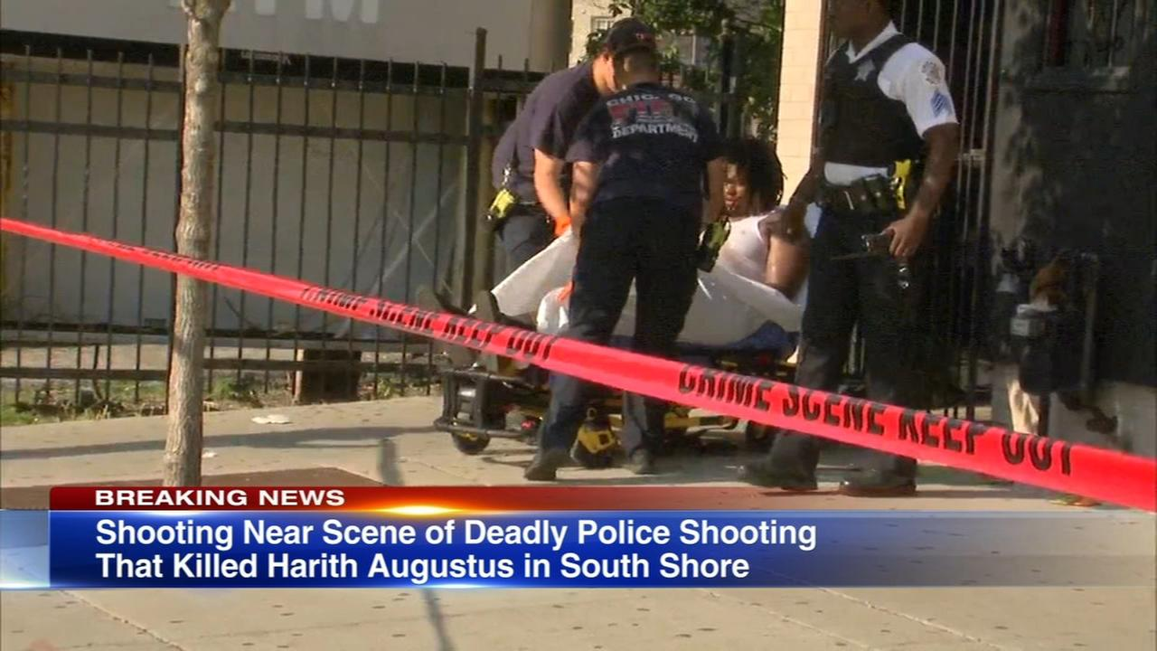 Person shot near scene of fatal South Shore police shooting