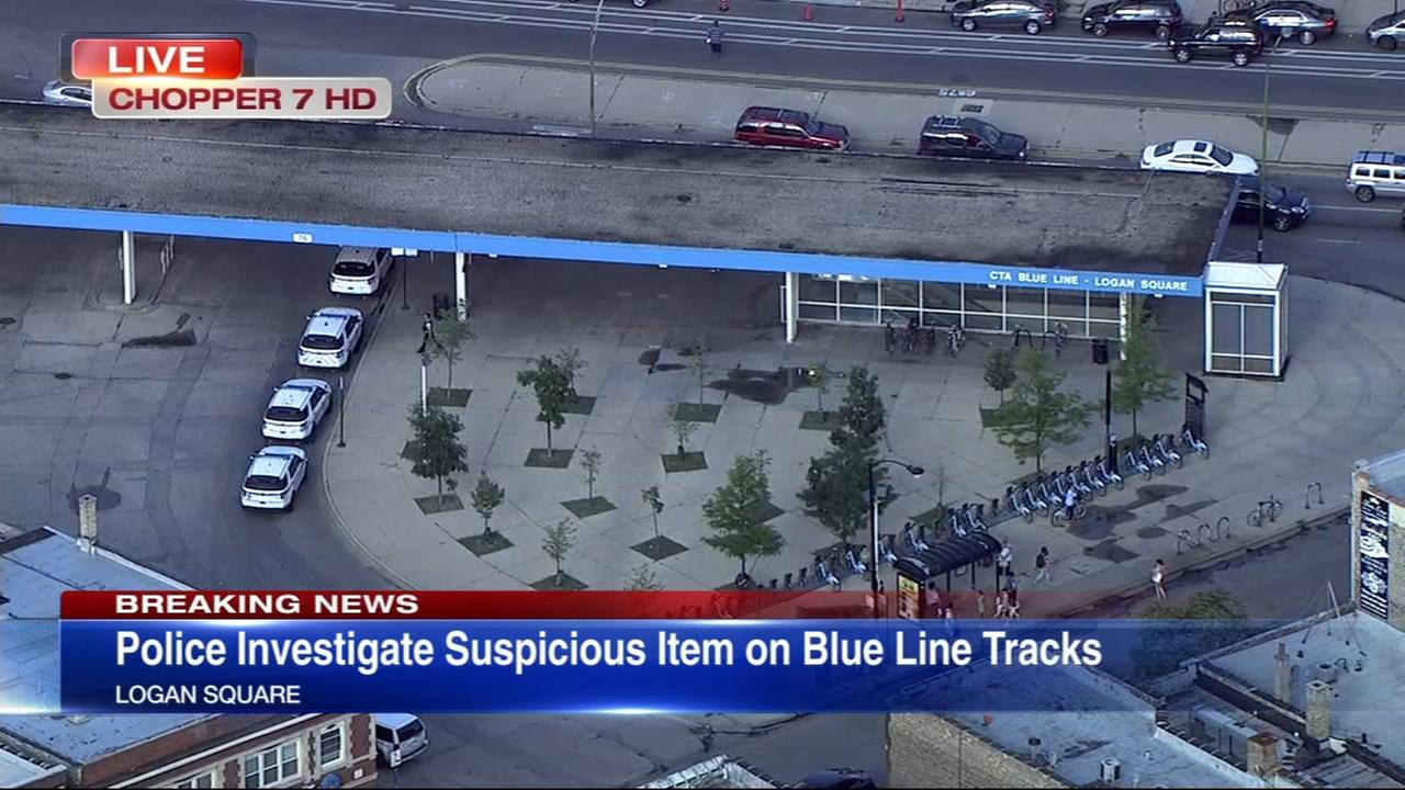 CTA Blue Line trains halted between Montrose, Grand due to suspicious object