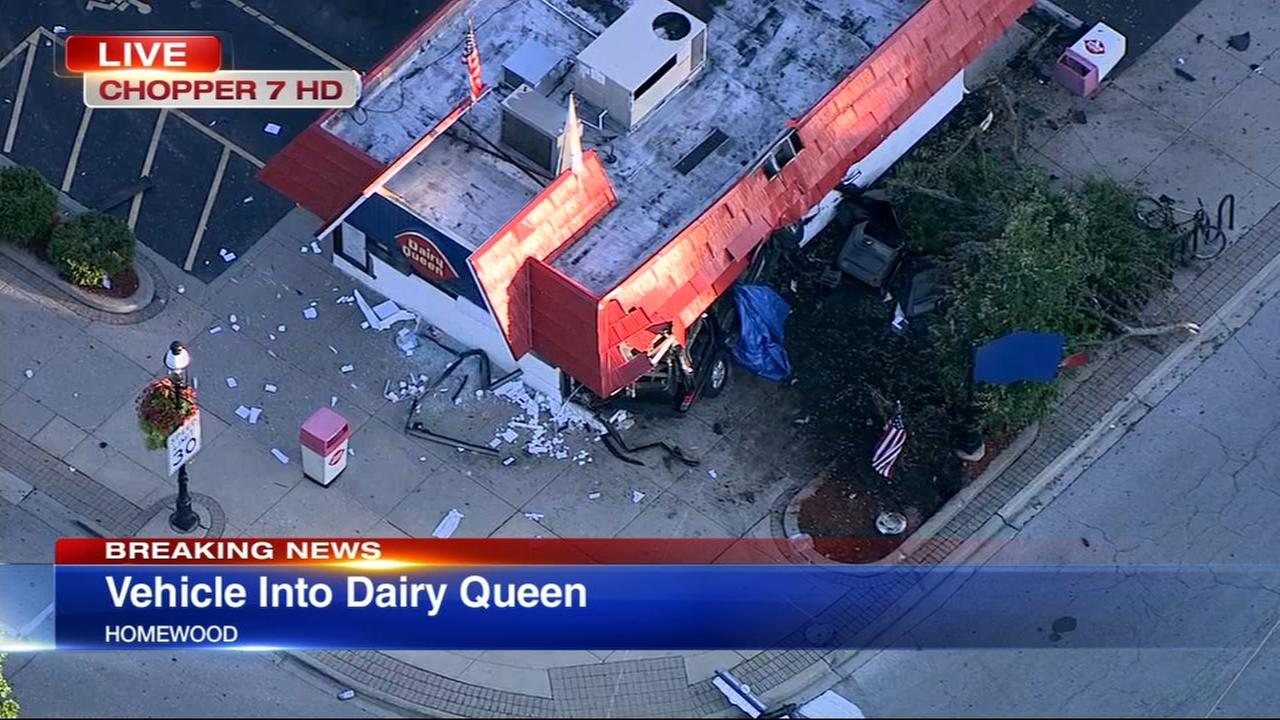 Car slams into Homewood Dairy Queen