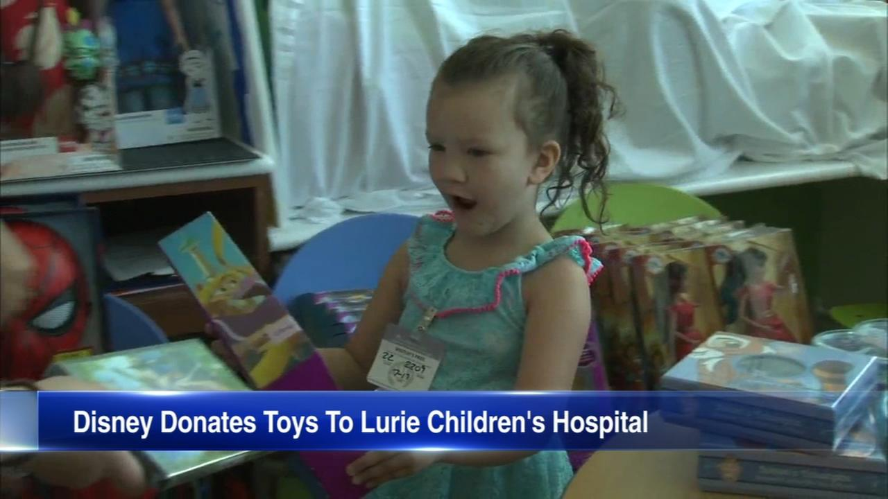 Disney delivers toys to patients at Lurie Children's Hospital in Chicago