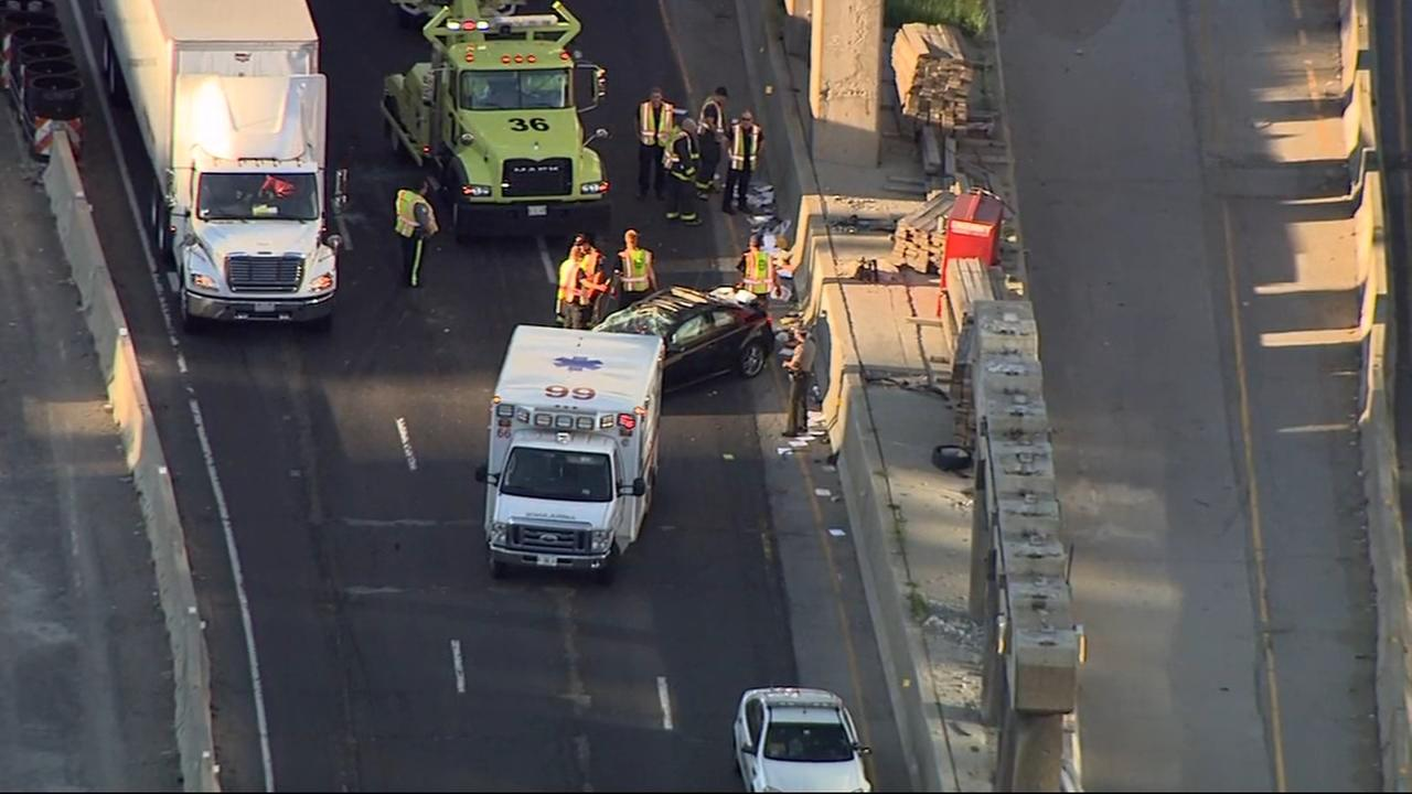 Crash snarls traffic on OB Kennedy near Jackson