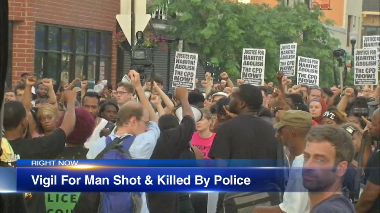 Vigil held for man killed in South SHore police shooting
