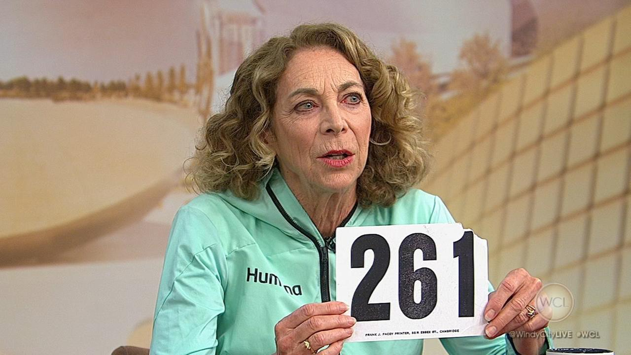 Marathon legend Kathrine Switzer blows through windy city