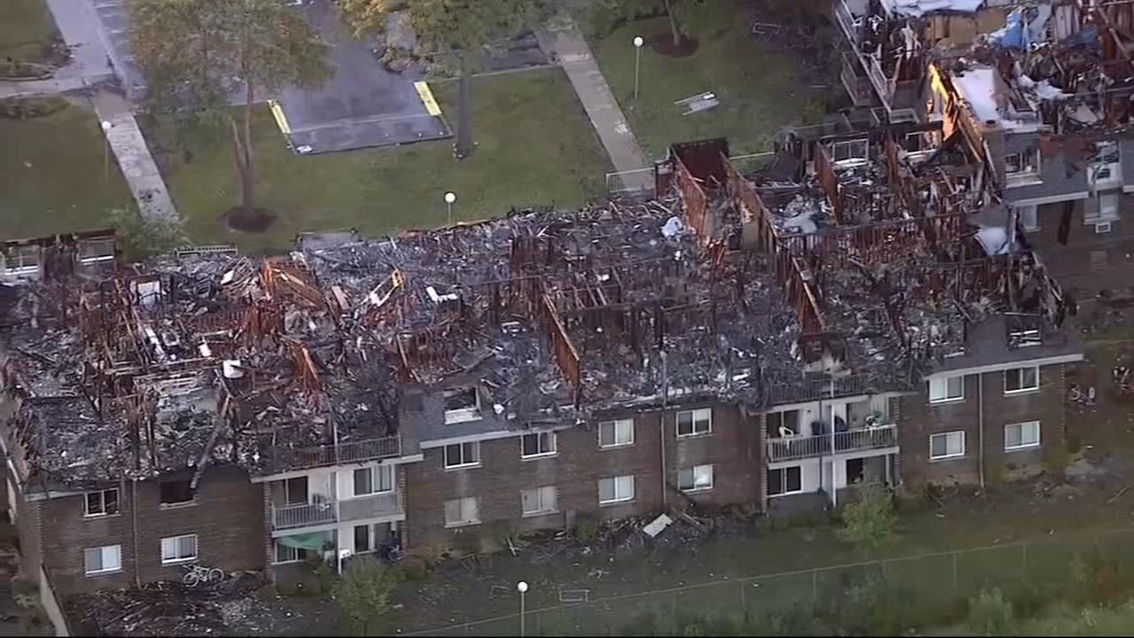 Hundreds displaced, community offers help after Prospect Heights fire