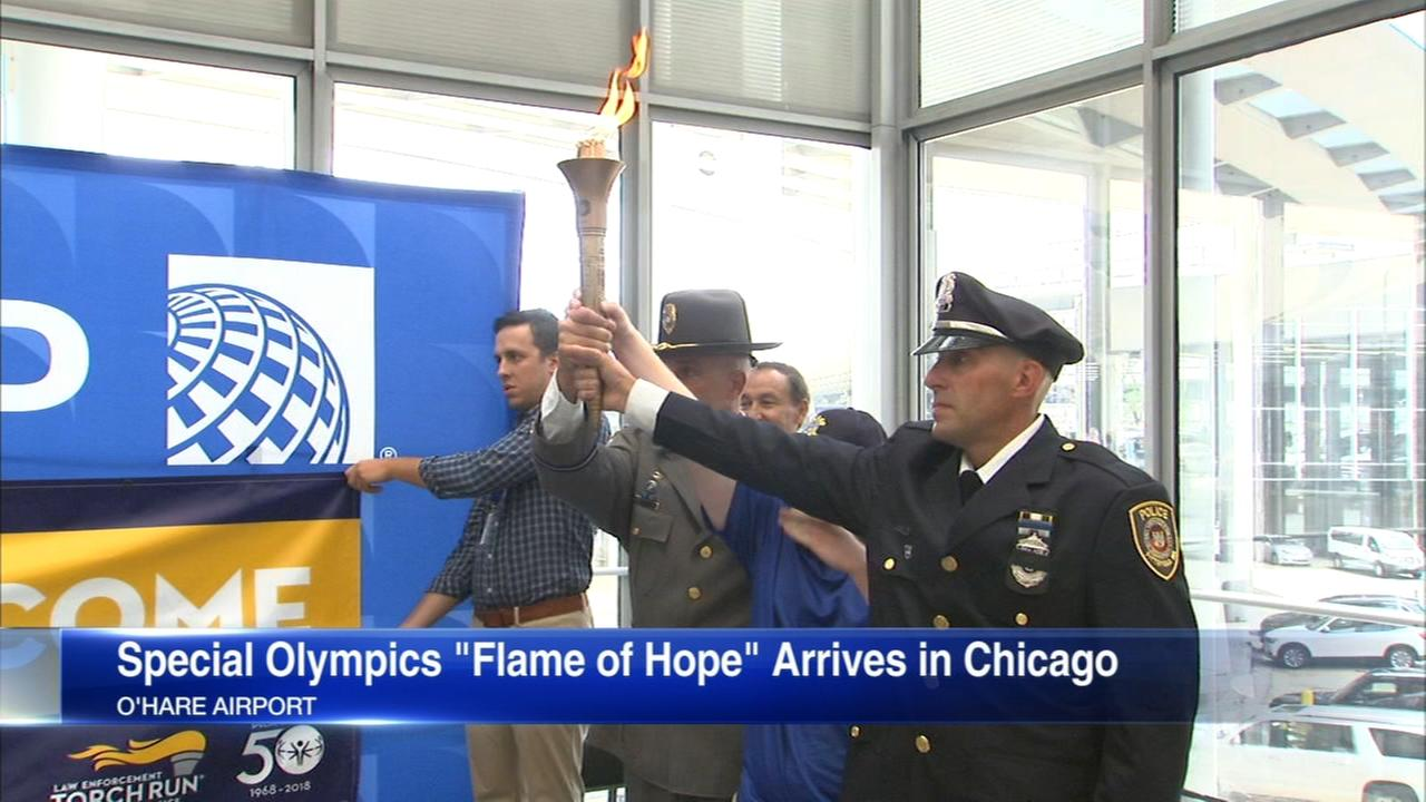 Special Olympics Torch arrives in Chicago