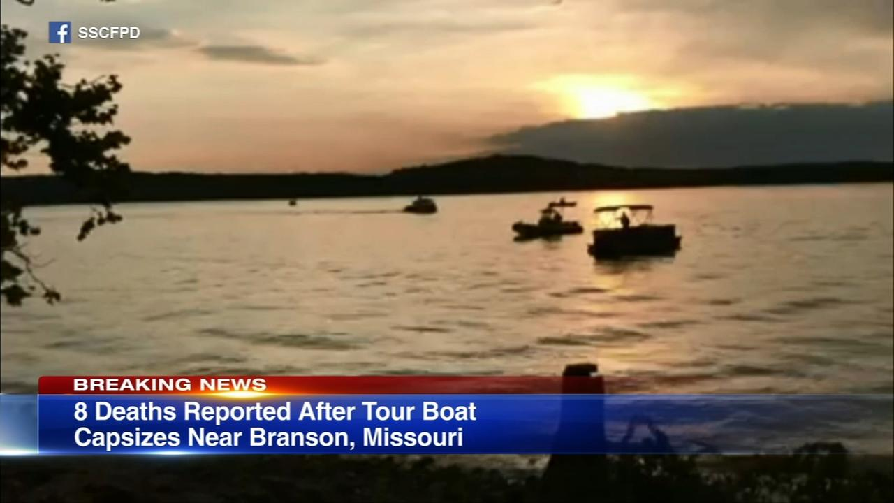 Sheriff: 8 people dead after Missouri tourist boat accident