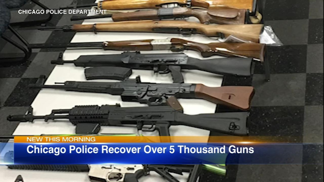 CPD recovers 5,000 illegal guns so far in 2018