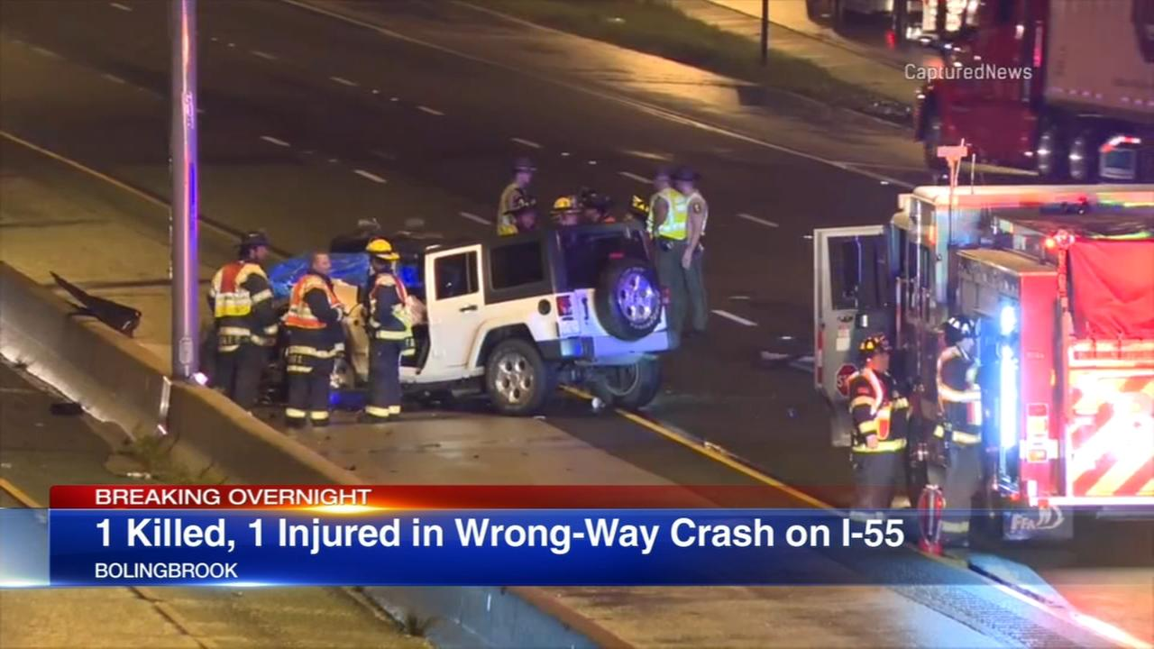 1 killed, 1 injured in wrong-way I-55 crash