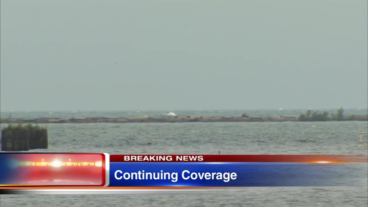 Person falls overboard from sailboat in Lake Michigan