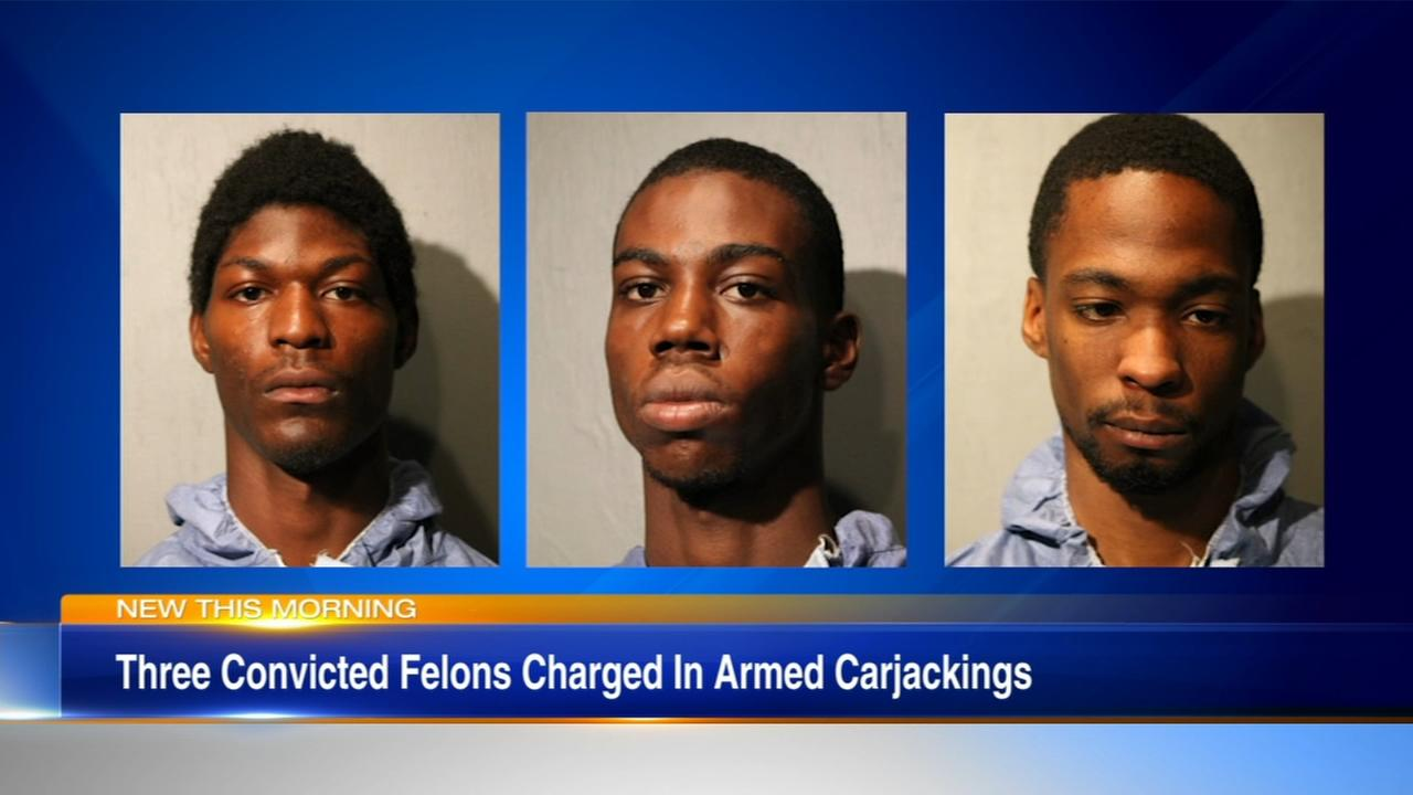 3 charged in carjacking of pregnant woman, husband