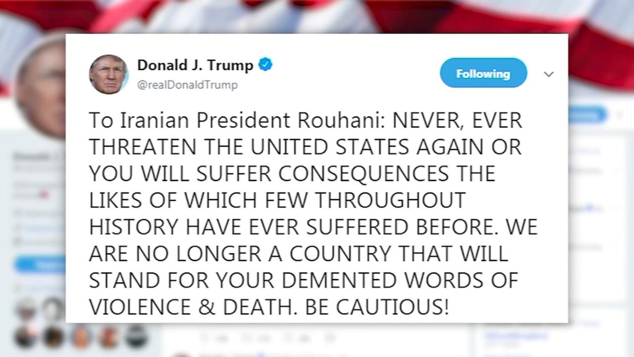 Trump fires off explosive threat to Irans leader