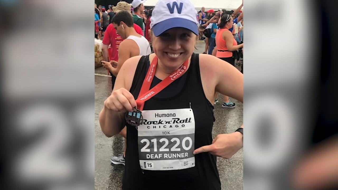 Deaf runner completes Rock n Roll Half Marathon
