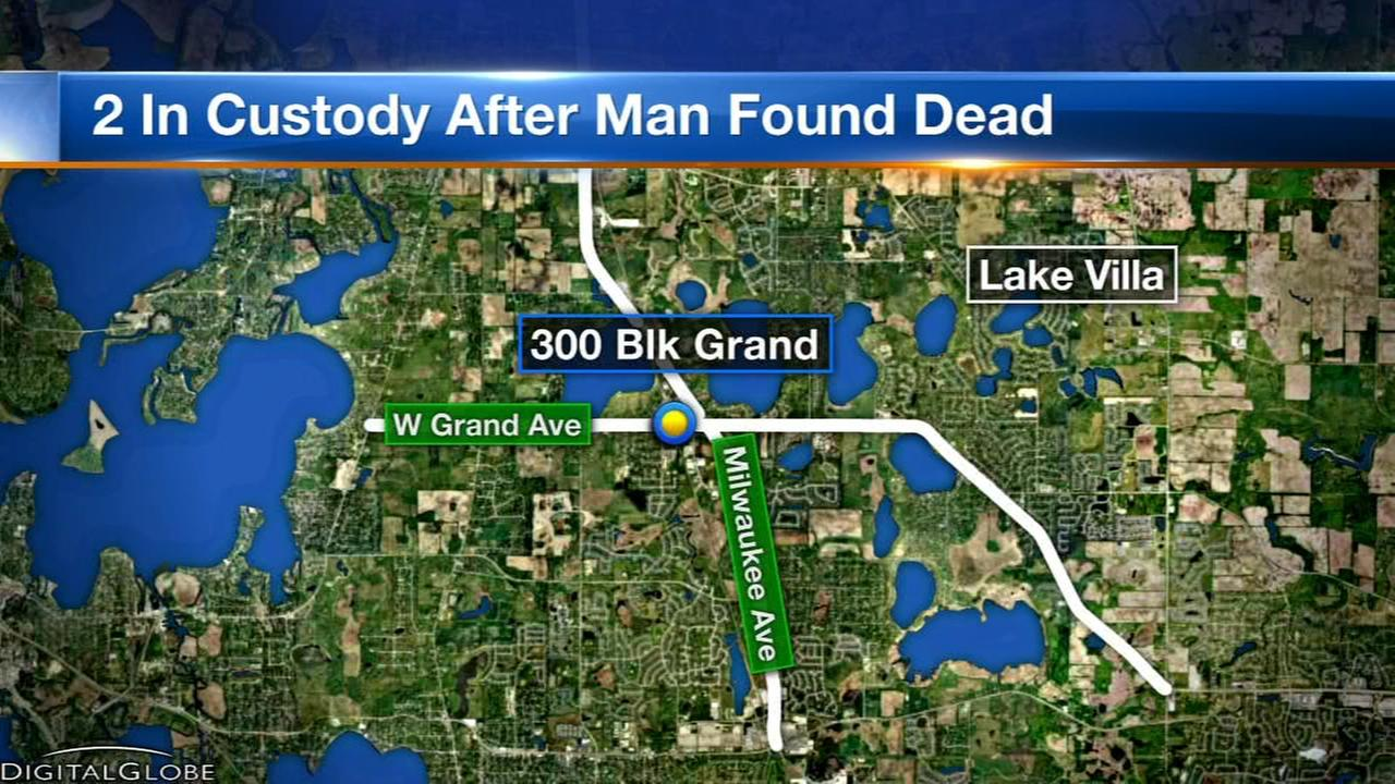 2 in custody after suspicious death in Lake Villa