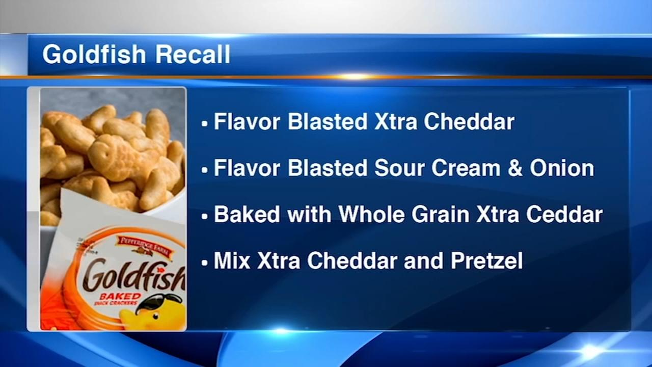 Pepperidge Farm recalls 4 varieties of Goldfish Crackers over salmonella concerns