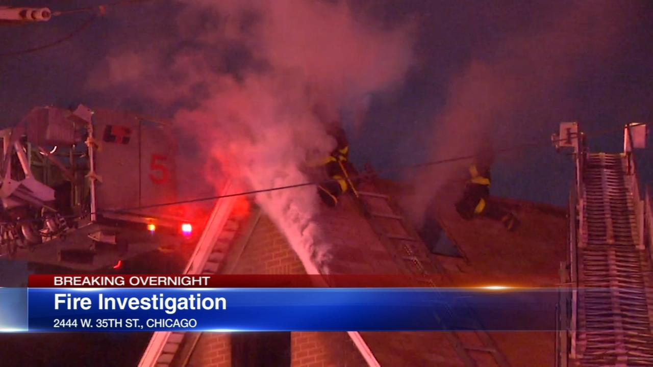 Brighton Park apartment building fire under investigation