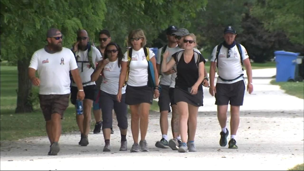 Wounded vets continue 1000 mile trek in Chicago to raise mental health awareness