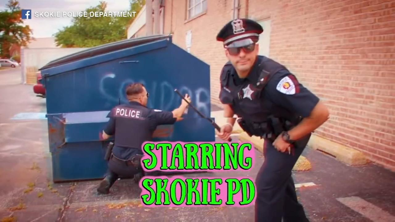 Skokie police Lip Sync Challenge video goes viral