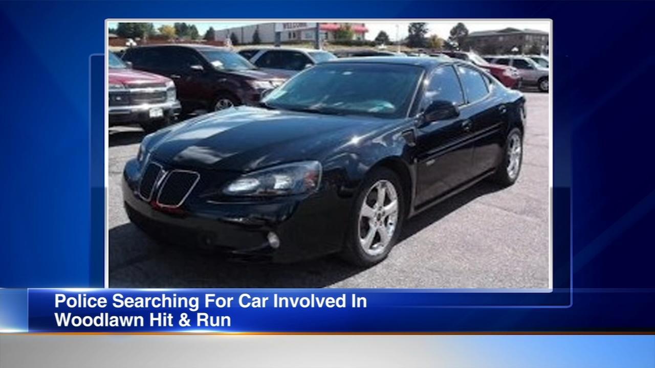 Pedestrian struck in Woodlawn hit-and-run; police seek suspects car