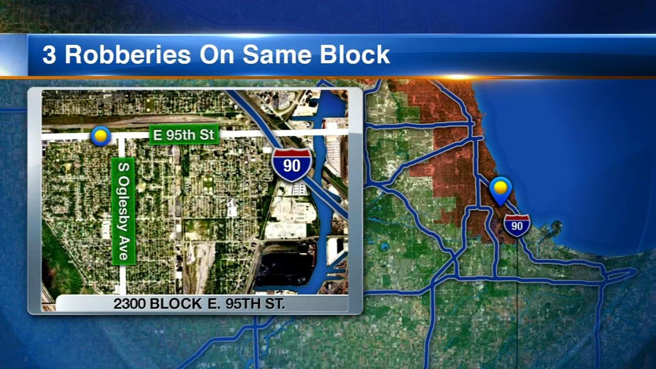Police warn of 3 violent robberies on same SE Side block this month