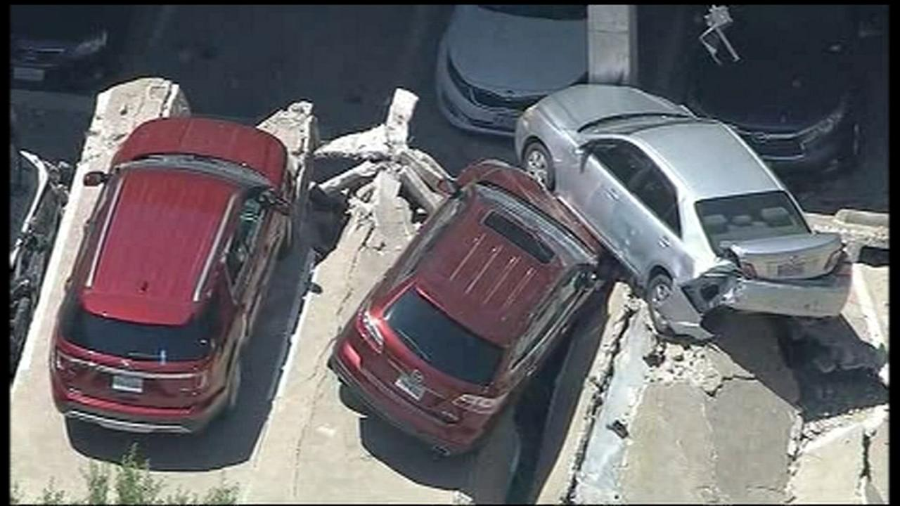 Parking garage collapses in Irving, Texas