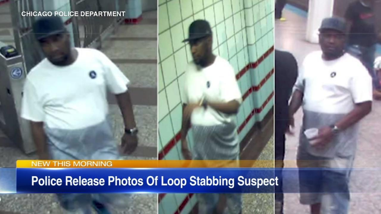 Chicago Loop stabbing suspect photos released