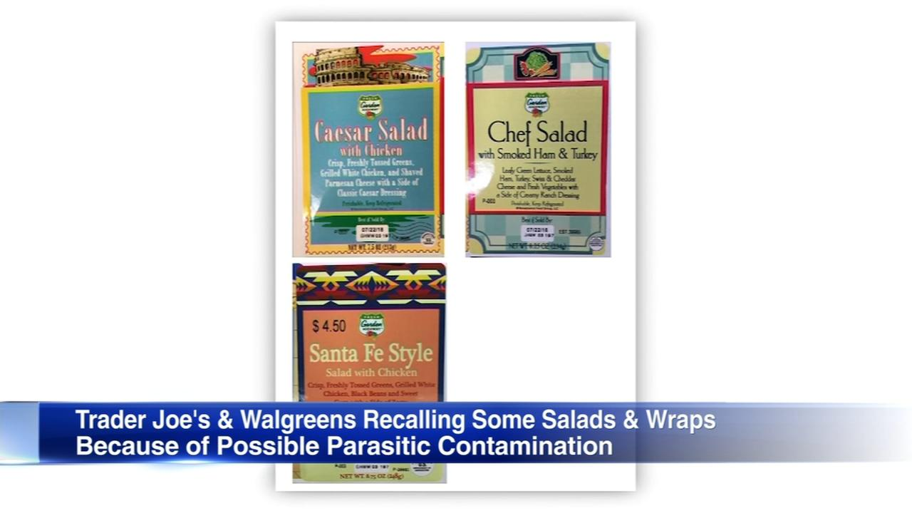 Salads, wraps recalled from Trader Joes, Walgreens