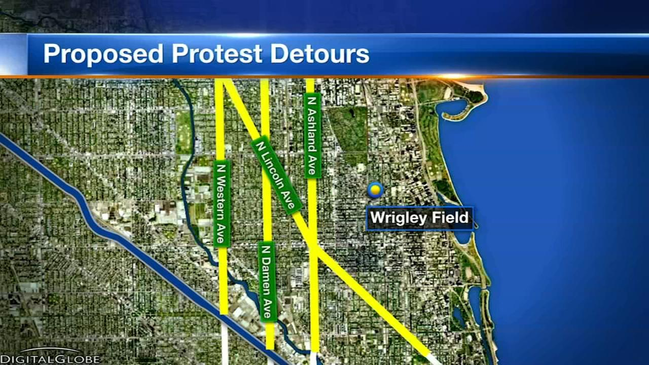 How to get around the Lake Shore Drive anti-violence march