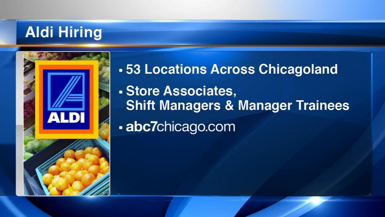 Aldi hiring 100 employees across Chicago area, NW Indiana