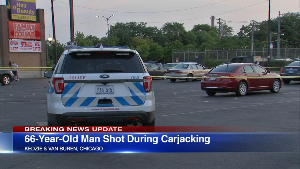 Man, 66, shot in West Side carjacking