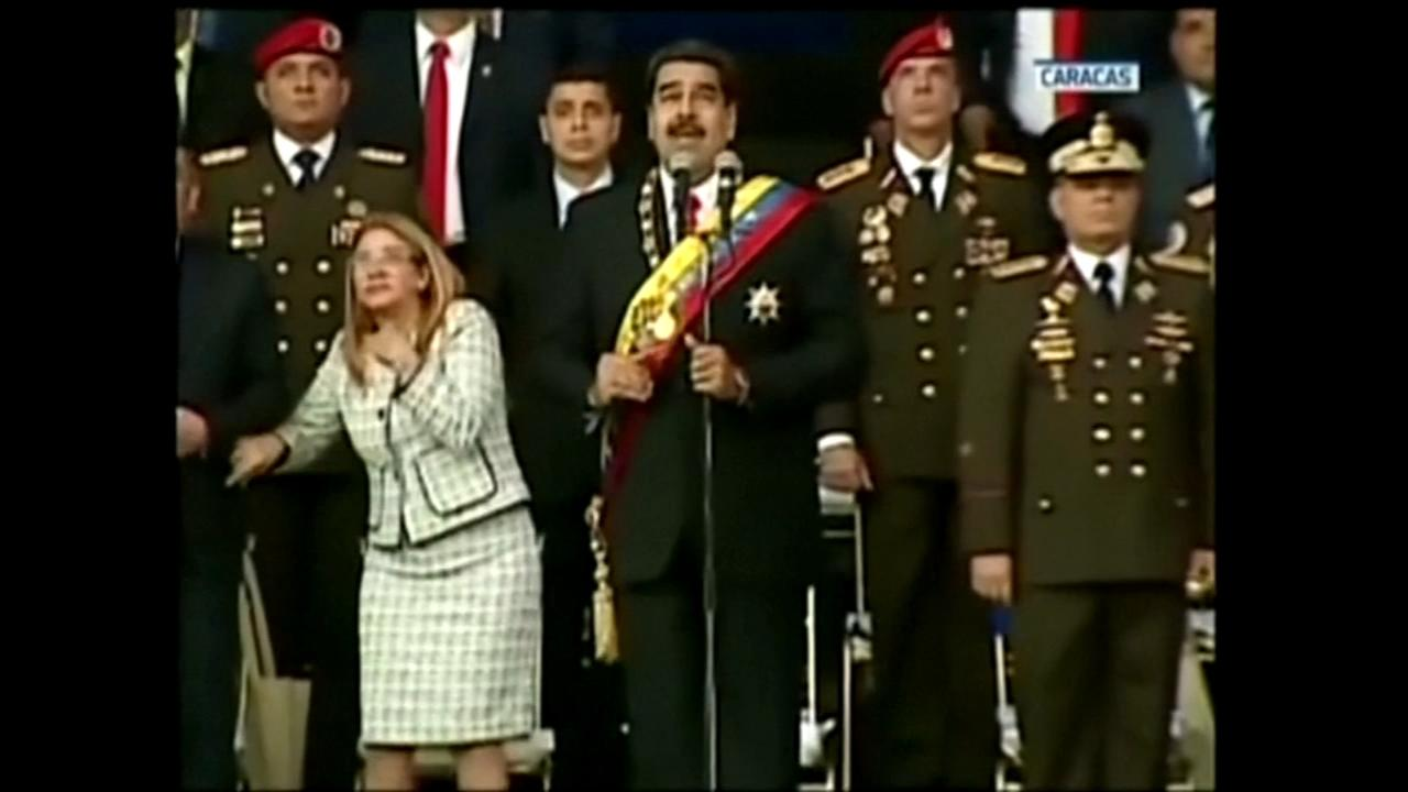 Venezuelas Nicolas Maduro evacuated from stage after attempt against the president