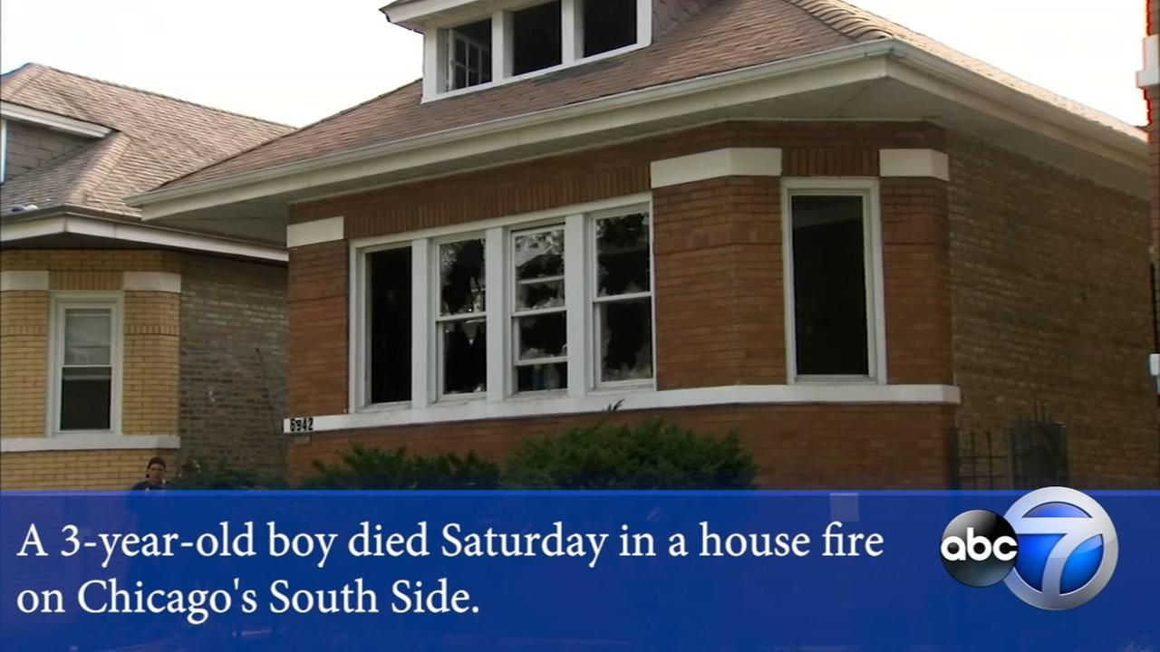 Boy, 3, dies after being pulled from South Side house fire