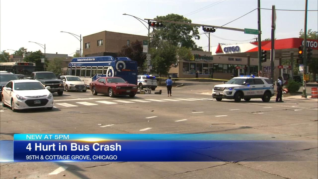 Bus, car collide on South Side