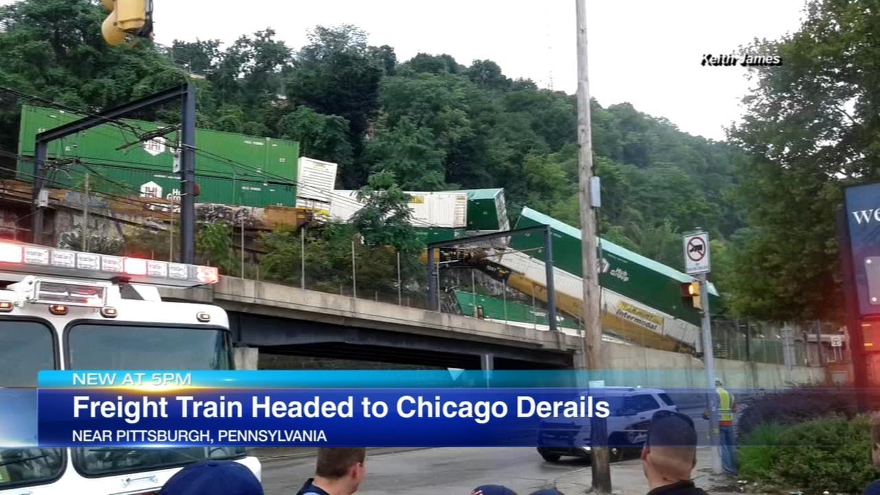 Chicago-bound train detrails in Pittsburgh