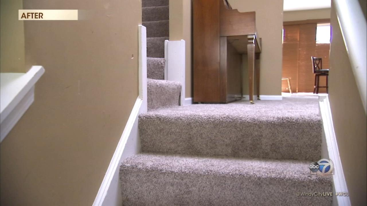 Empire Today sweepstakes winner shows off new carpet