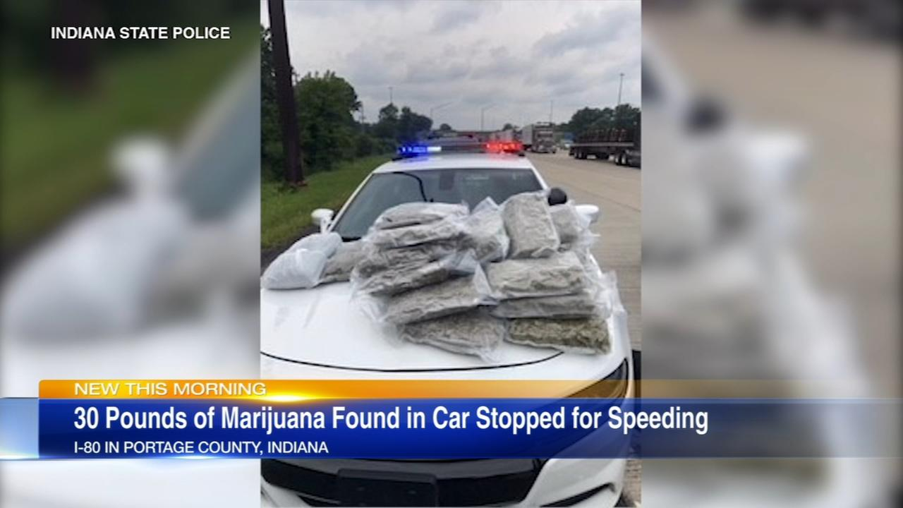 30 pounds of pot found in Porter County traffic stop