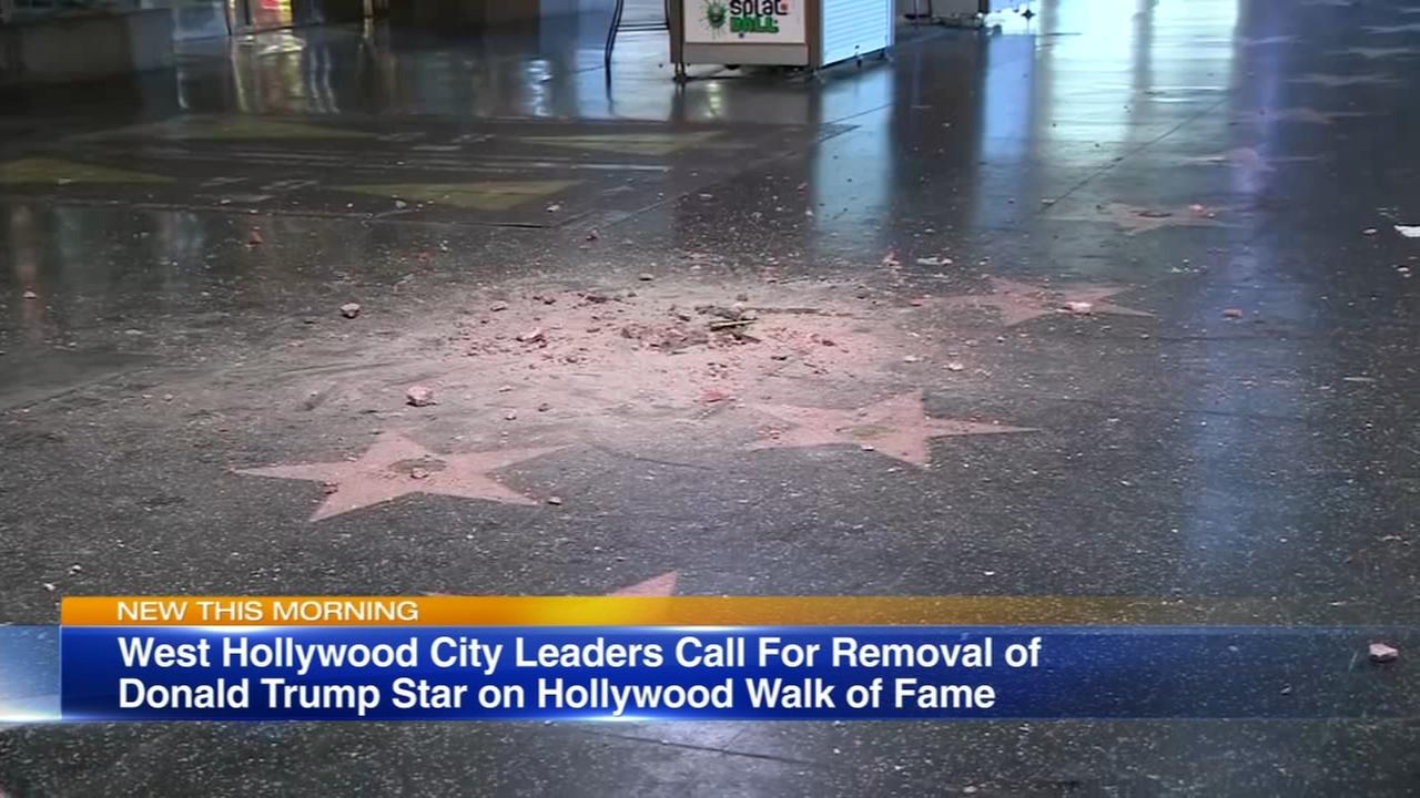 2 West Hollywood leaders want Trumps star off Walk of Fame