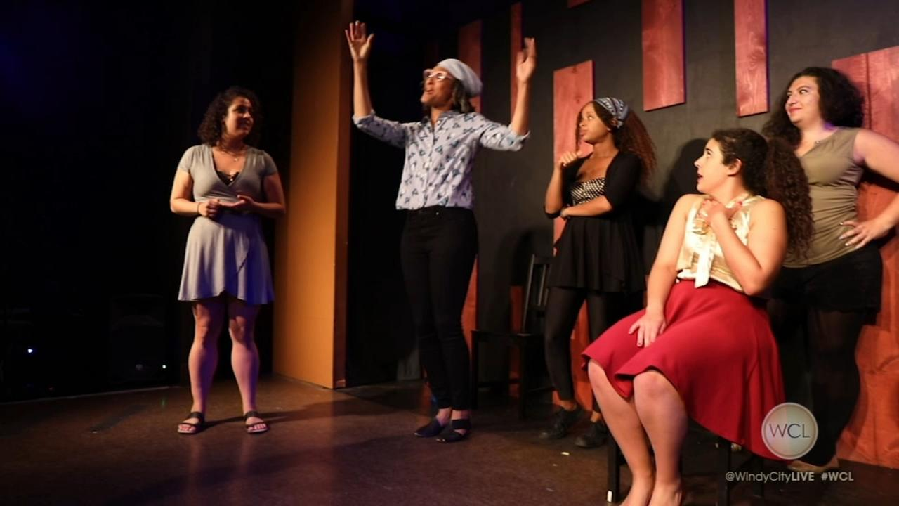 Annoyance Theater improv troop schools Chew host Carla Hall