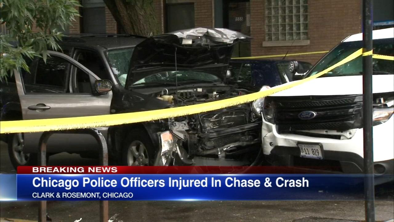 Cyclist, 5 police officers injured in Lake Shore Drive chase, crash