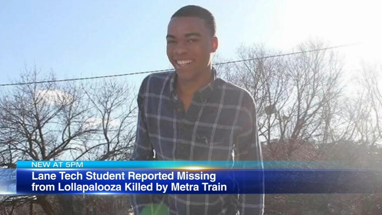 Lane Tech student reported missing from Lollapalooza killed by Metra train