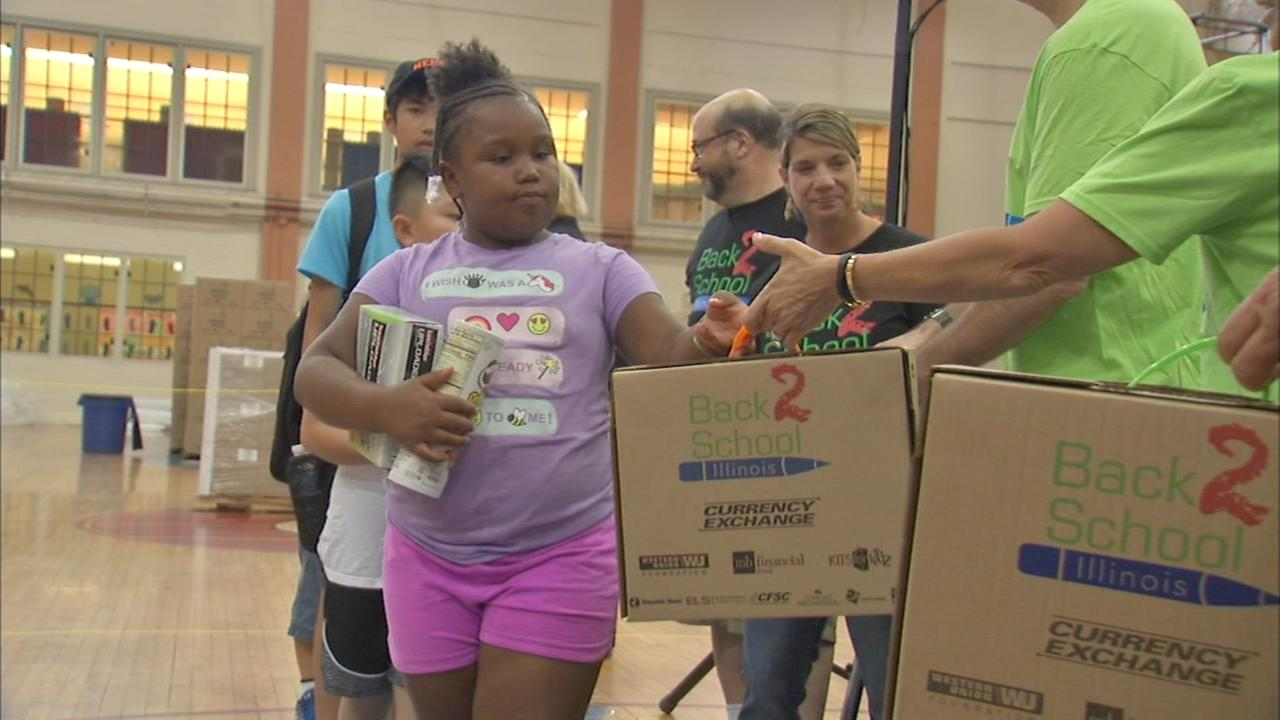 Back 2 School supplies giveaway held in Edgewater