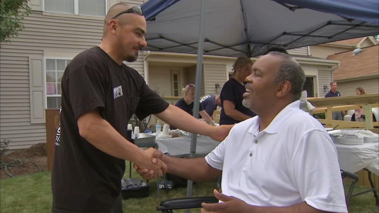 Laborers transform house in 12 days for Carpentersville man who lost legs